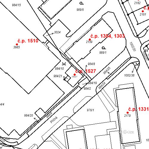 Katastrální mapa Stavební objekt Ústí nad Orlicí 1527, Ústí nad Orlicí
