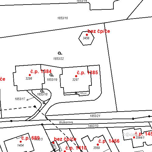 Katastrální mapa Stavební objekt Ústí nad Orlicí 1385, Ústí nad Orlicí
