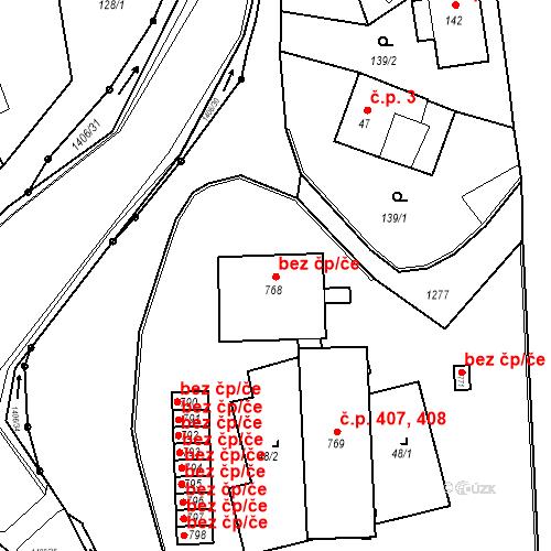 Katastrální mapa Stavební objekt Hylváty 536, Ústí nad Orlicí