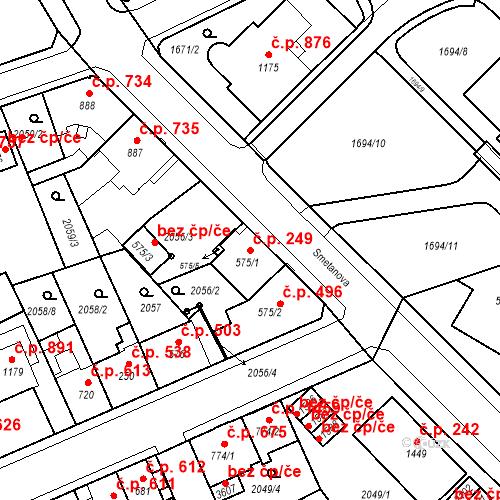 Katastrální mapa Stavební objekt Ústí nad Orlicí 249, Ústí nad Orlicí