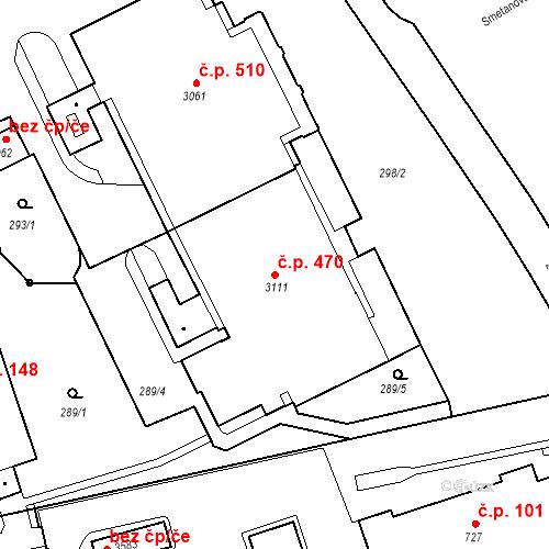 Katastrální mapa Stavební objekt Ústí nad Orlicí 470, Ústí nad Orlicí