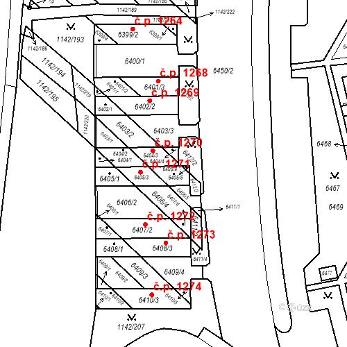 Katastrální mapa Stavební objekt Bystrc 1271, Brno