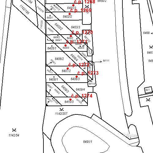 Katastrální mapa Stavební objekt Bystrc 1273, Brno