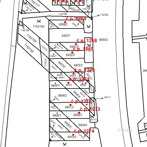 Katastrální mapa Stavební objekt Bystrc 1270, Brno