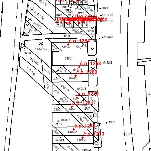 Katastrální mapa Stavební objekt Bystrc 1269, Brno