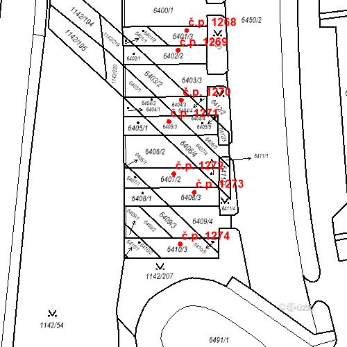 Katastrální mapa Stavební objekt Bystrc 1272, Brno