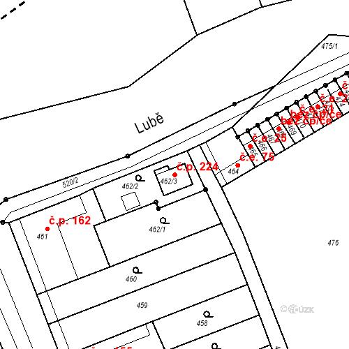 Katastrální mapa Stavební objekt Malhostovice 224, Malhostovice