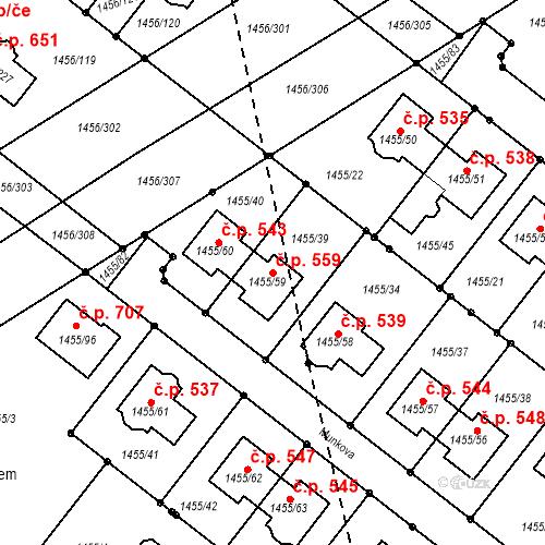 Katastrální mapa Stavební objekt Troubsko 559, Troubsko