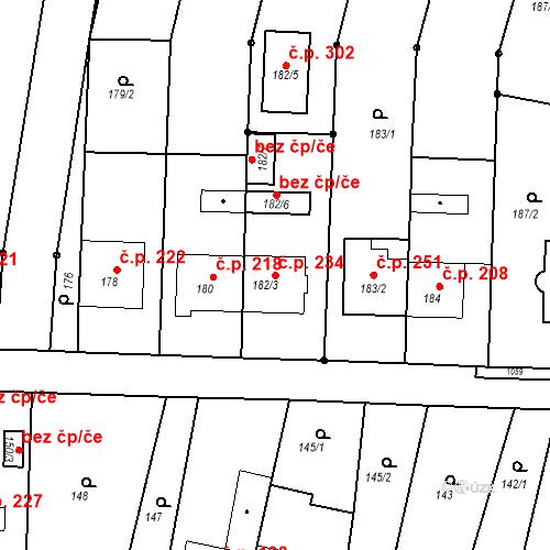 Katastrální mapa Stavební objekt Moravské Knínice 234, Moravské Knínice