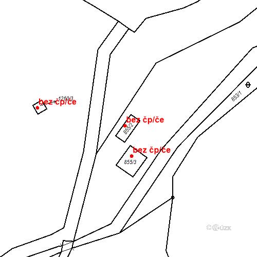 Katastrální mapa Stavební objekt Moravské Knínice 45, Moravské Knínice