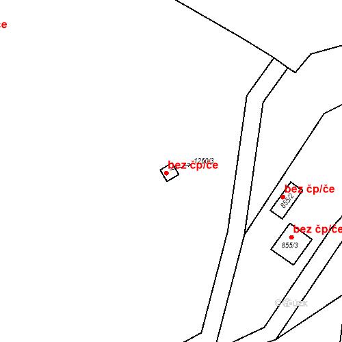 Katastrální mapa Stavební objekt Moravské Knínice 49, Moravské Knínice