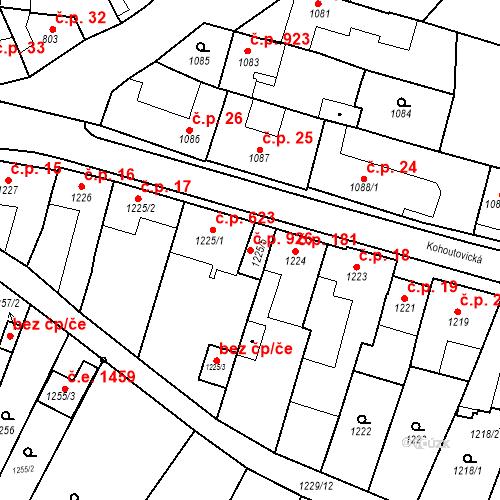 Katastrální mapa Stavební objekt Žebětín 926, Brno