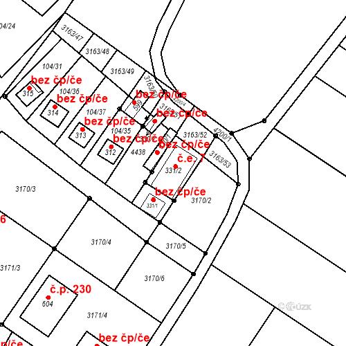 Katastrální mapa Stavební objekt Brod nad Dyjí 7, Brod nad Dyjí