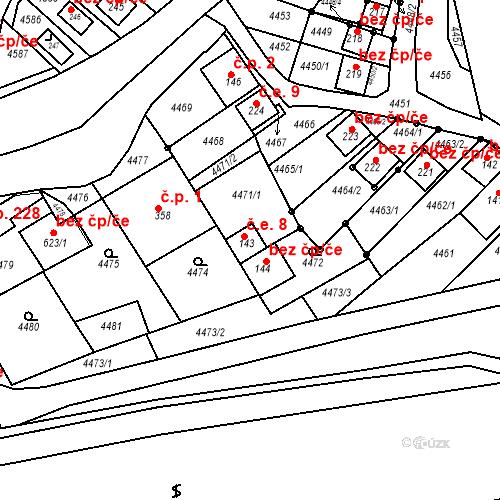 Katastrální mapa Stavební objekt Brod nad Dyjí 8, Brod nad Dyjí