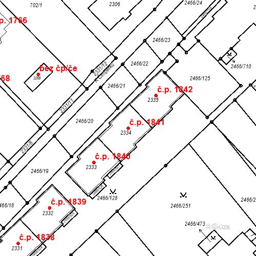 Katastrální mapa Stavební objekt Tišnov 1841, Tišnov
