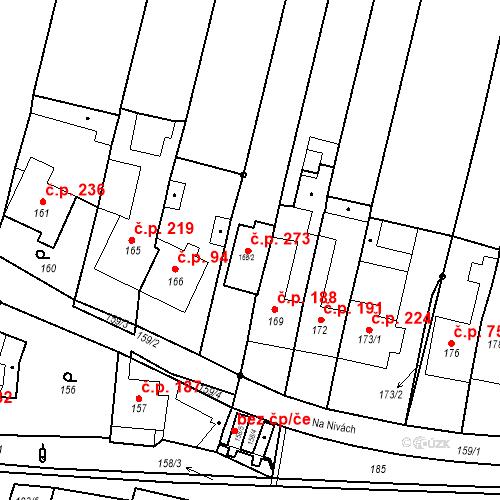 Katastrální mapa Stavební objekt Silůvky 273, Silůvky