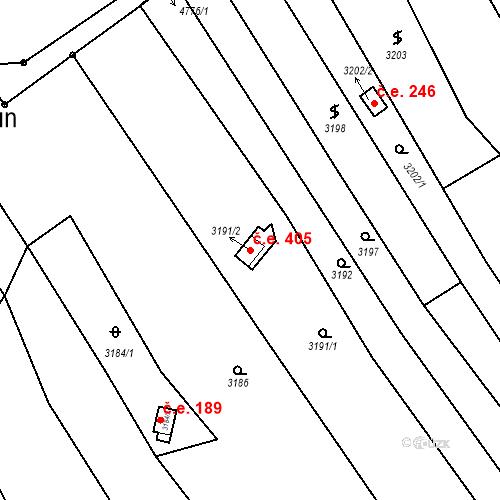 Katastrální mapa Stavební objekt Dolní Kounice 405, Dolní Kounice
