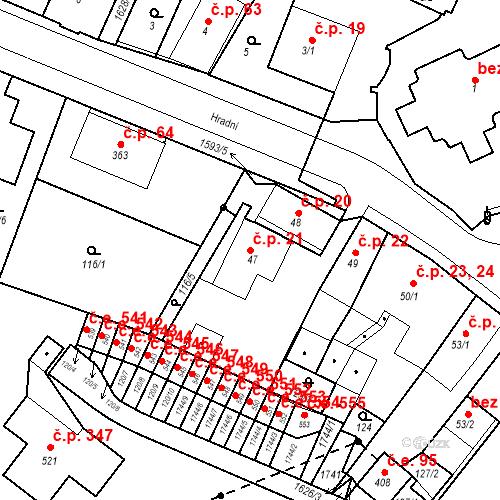 Katastrální mapa Stavební objekt Nový Hrádek 21, Nový Hrádek