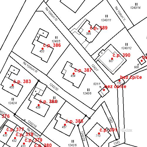 Katastrální mapa Stavební objekt Brandýs nad Orlicí 387, Brandýs nad Orlicí