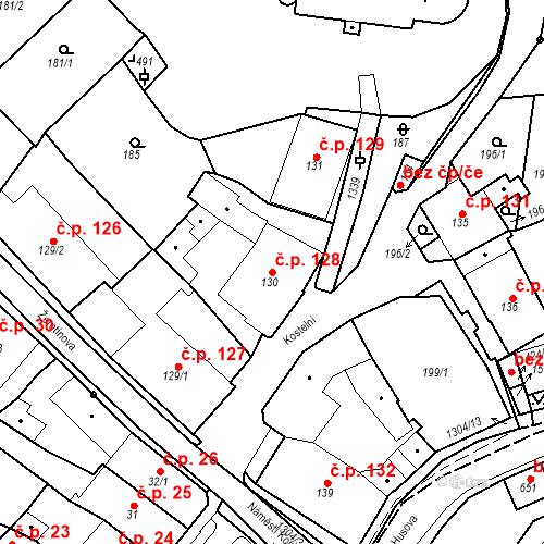 Katastrální mapa Stavební objekt Brandýs nad Orlicí 128, Brandýs nad Orlicí