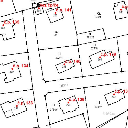Katastrální mapa Stavební objekt Lipovka 140, Rychnov nad Kněžnou