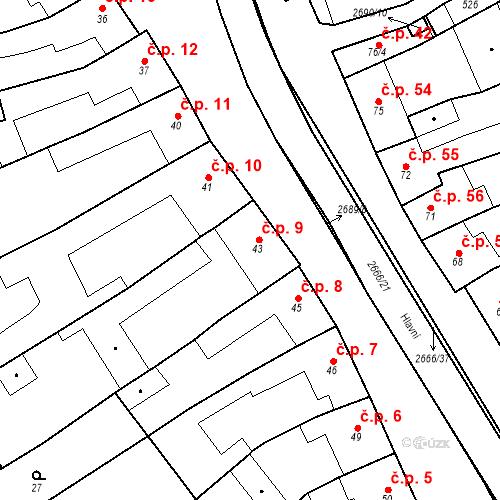 Katastrální mapa Stavební objekt Neslovice 9, Neslovice