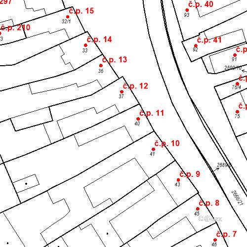 Katastrální mapa Stavební objekt Neslovice 11, Neslovice
