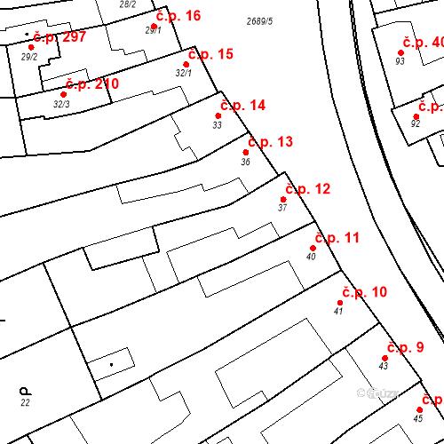 Katastrální mapa Stavební objekt Neslovice 12, Neslovice