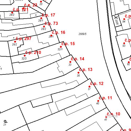 Katastrální mapa Stavební objekt Neslovice 14, Neslovice