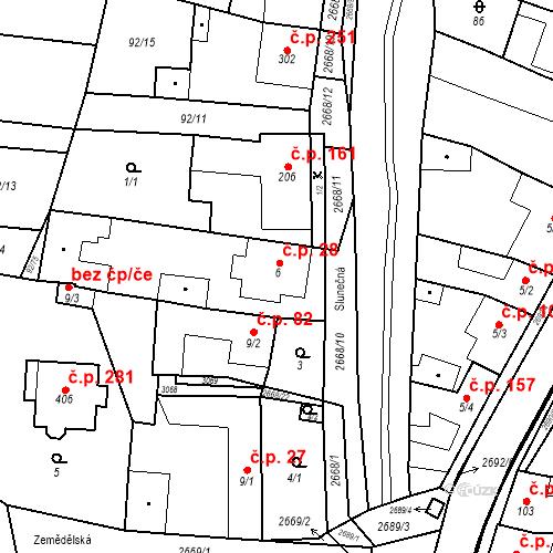 Katastrální mapa Stavební objekt Neslovice 28, Neslovice