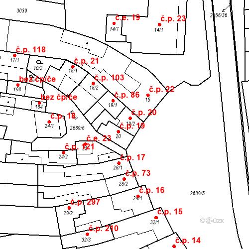 Katastrální mapa Stavební objekt Neslovice 20, Neslovice