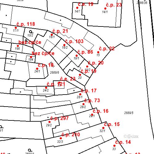 Katastrální mapa Stavební objekt Neslovice 19, Neslovice