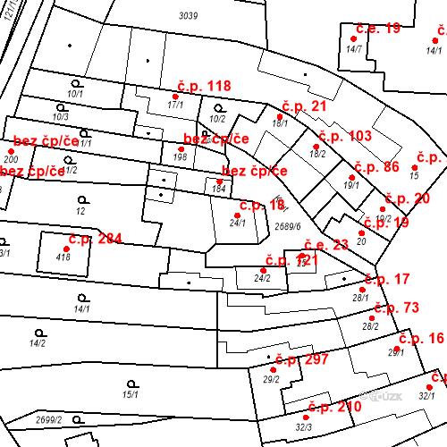 Katastrální mapa Stavební objekt Neslovice 18, Neslovice
