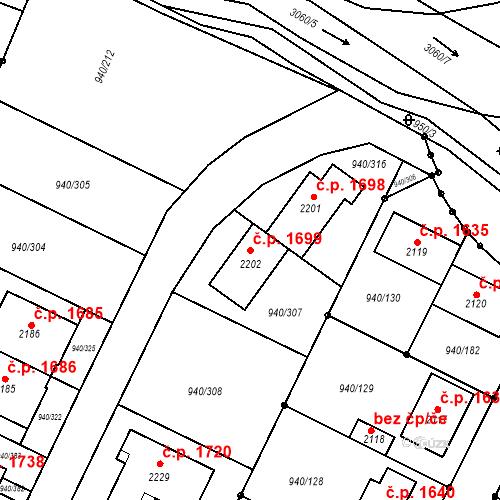 Katastrální mapa Stavební objekt Ivančice 1699, Ivančice