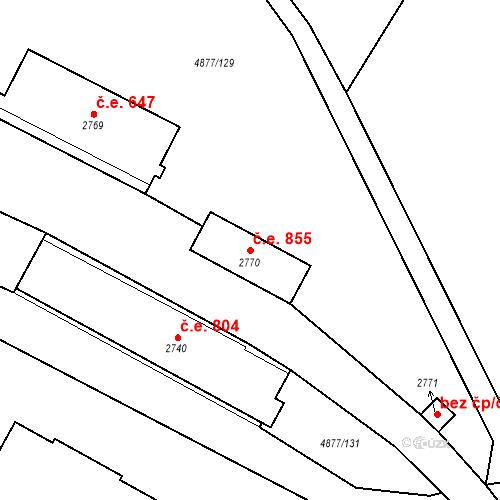 Katastrální mapa Stavební objekt Horní Předměstí 855, Polička