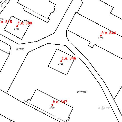 Katastrální mapa Stavební objekt Horní Předměstí 846, Polička