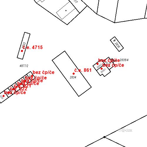 Katastrální mapa Stavební objekt Horní Předměstí 861, Polička