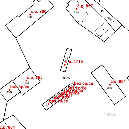 Katastrální mapa Stavební objekt Horní Předměstí 4715, Polička