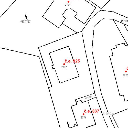 Katastrální mapa Stavební objekt Horní Předměstí 925, Polička