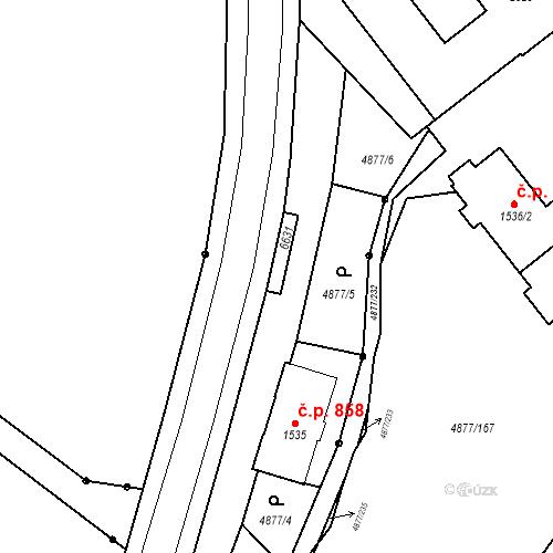 Katastrální mapa Stavební objekt Horní Předměstí 877, Polička
