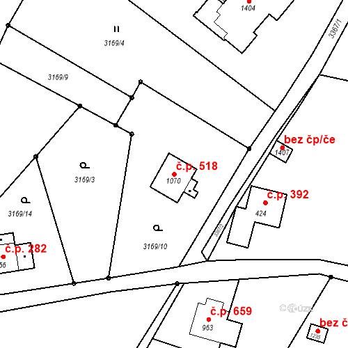 Katastrální mapa Stavební objekt Rtyně v Podkrkonoší 518, Rtyně v Podkrkonoší