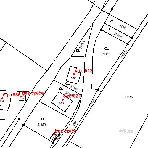 Katastrální mapa Stavební objekt Rtyně v Podkrkonoší 512, Rtyně v Podkrkonoší