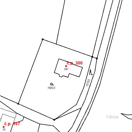 Katastrální mapa Stavební objekt Korouhev 300, Korouhev