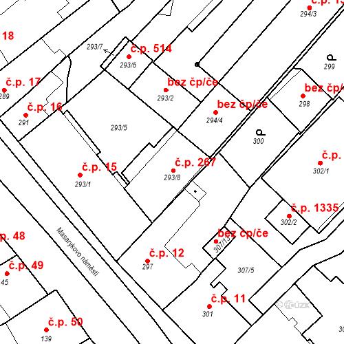 Katastrální mapa Stavební objekt Bystřice nad Pernštejnem 267, Bystřice nad Pernštejnem
