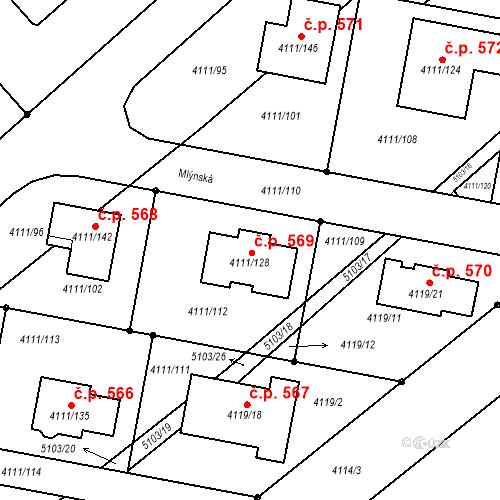 Katastrální mapa Stavební objekt Choceňské Předměstí 569, Vysoké Mýto