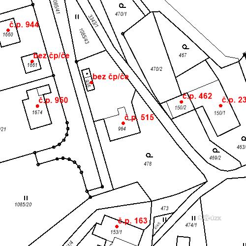 Katastrální mapa Stavební objekt Rtyně v Podkrkonoší 515, Rtyně v Podkrkonoší