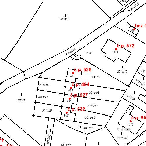 Katastrální mapa Stavební objekt Rtyně v Podkrkonoší 526, Rtyně v Podkrkonoší