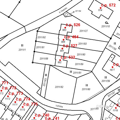 Katastrální mapa Stavební objekt Rtyně v Podkrkonoší 532, Rtyně v Podkrkonoší