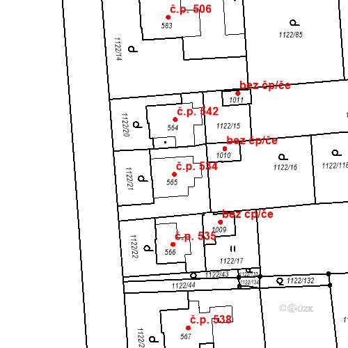 Katastrální mapa Stavební objekt Rtyně v Podkrkonoší 534, Rtyně v Podkrkonoší