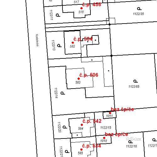 Katastrální mapa Stavební objekt Rtyně v Podkrkonoší 506, Rtyně v Podkrkonoší